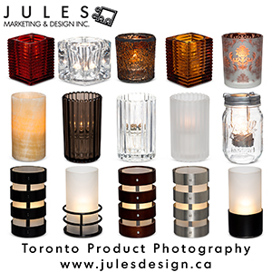 Toronto Glass Candle Product Photography Studio