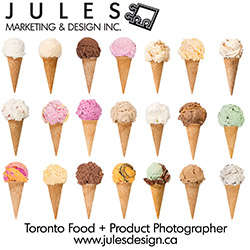 Toronto Ice Cream and Food Product Photography