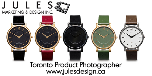 Wristwatch & Jewelry Photography -Toronto Macro Product Photographer
