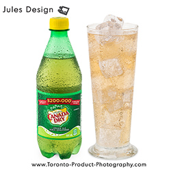 Canada Dry, Motts, No reflection, Drink Photography, Mississauga, Brampton, Toronto